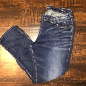 Silver Plus Size Suki Mid Straight Jeans